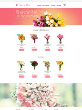 OpenCart e-shop šablona na téma Květiny č. 55697