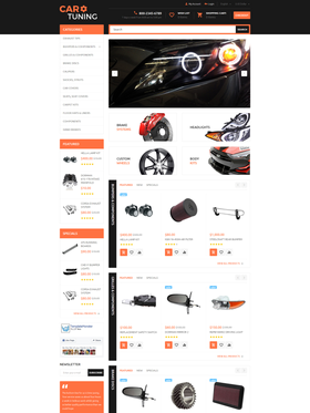 OpenCart e-shop šablona na téma Auta č. 55728