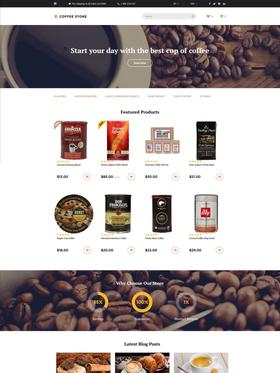 OpenCart e-shop šablona na téma Café a restaurace č. 58134