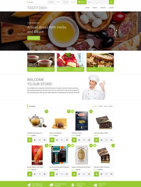OpenCart e-shop šablona na téma Café a restaurace č. 59017