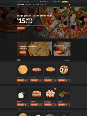 OpenCart e-shop šablona na téma Café a restaurace č. 62294