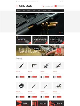 OpenCart e-shop šablona na téma Vojenské č. 48272