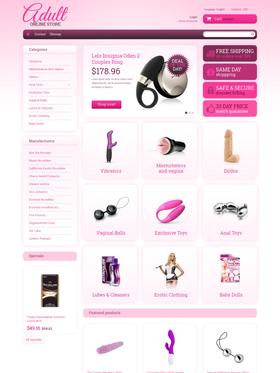 PrestaShop e-shop šablona na téma Pro dospělé č. 48365
