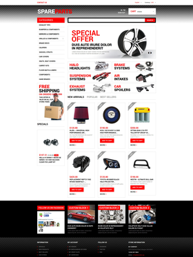 PrestaShop e-shop šablona na téma Auta č. 50616