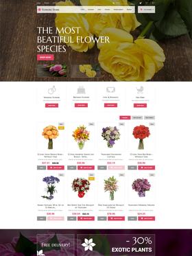 PrestaShop e-shop šablona na téma Květiny č. 52387