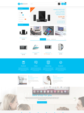 PrestaShop e-shop šablona na téma Elektronika č. 53604