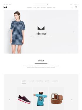 PrestaShop e-shop šablona na téma Móda č. 55459