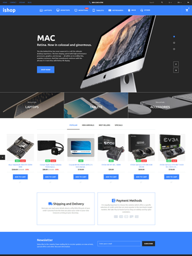 PrestaShop e-shop šablona na téma Elektronika č. 58375
